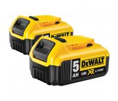 DeWalt DCB184-2 18V Li-Ion Pack 2 batteries (2xDCB184) - 5.0Ah
